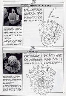 Album Archive - crochet - miniatures et dorures Crochet Diagram, Crochet Chart, Crochet Motif, Crochet Doilies, Crochet Flowers, Crochet Stitches, Knit Crochet, Crochet Patterns, Diy Crochet Basket