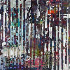 Su Sheedy POND 60, 48 x 48 in, encaustic on plywood, 2012.