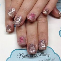 Breast Cancer Awareness- Champagne by nailsbybritt from Nail Art Gallery