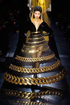 Jean Paul Gaultier dresses the ultimate noir femme fatale at couture autumn/winter 14 http://uk.bazaar.com/1je3c7O