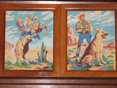 The show was already in reruns, but I wanted to be Roy because he got to ride Trigger.  These are awesome!  Roy Rogers, Trigger and Bullet Paint by number