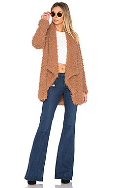 TULAROSA x REVOLVE Teddy Shag Coat | TempEdit_ sub the crop top for a basic splendid tee and rock those SFB / underbelly denim flares