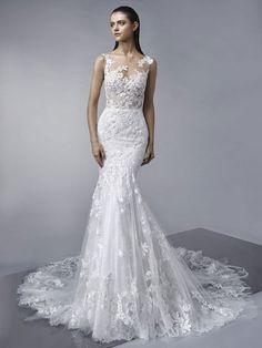 ENZOANI - MOLLY | Best Designer Wedding Dresses - Jaehee Bridal Atelier #mermaid #bateau #illusion #sleeveless #lace #bridal #weddingdress