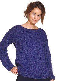 Simple Knit Sweater   AllFreeKnitting.com