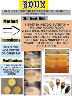 Roux sauce #cookingmethod #cooking #method #teaching Culinary Classes, Culinary Arts, Cooking Tips, Cooking Recipes, Cooking Stuff, Dips, Food Technology, Food Science, Roux Sauce