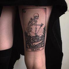 here be tattoos Irezumi, Piercing Tattoo, I Tattoo, Death Tattoo, Body Art Tattoos, Cool Tattoos, Tatoos, Dream Tattoos, Tarot Card Tattoo