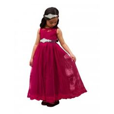 e349f5b090f1 Big Girls Wine Sash Lace Floor Length Scarlett Junior Bridesmaid Dress 7-12  New Arrival