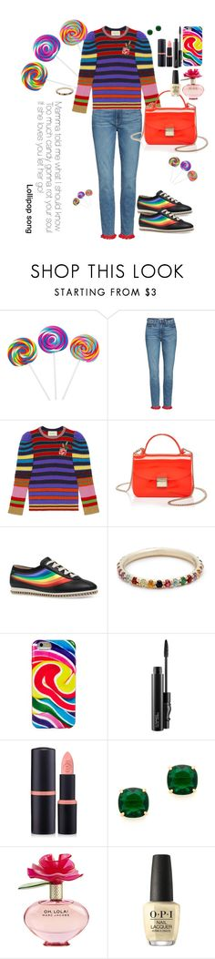 """""""SWEET TOOTH"""" by karlamy ❤ liked on Polyvore featuring Good American, Gucci, Furla, Ariel Gordon, Dylan's Candy Bar, MAC Cosmetics, Forever 21, Kate Spade, Marc Jacobs and OPI"""