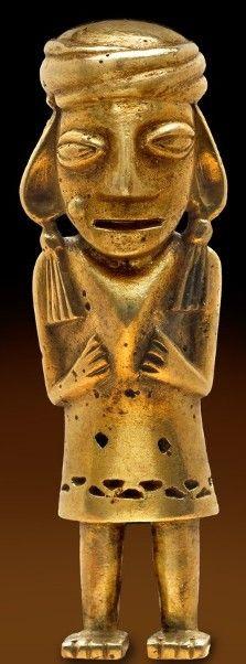 South America: Original Cultures Inca gold ,200-600 AD