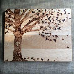 Wood Burnt Cutting Board Wedding Gift