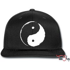 ying yang Snapback ($20) ❤ liked on Polyvore featuring accessories, hats, snapback hats and snap back hats