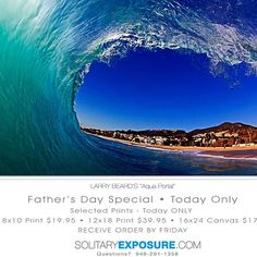 """""""Aqua Portal""""  Looking out the barrel is the one of the best views on the planet. This was one of those unique moments where everything came together. Great for prints for Father's Day.  Follow and Comment if you like """"Liquid Portal""""  Mahalo   Father's Day Special at SolitaryExposure.com  http://store.lbeard.com/p669419561  Today Only • Receive your order by Friday -"""
