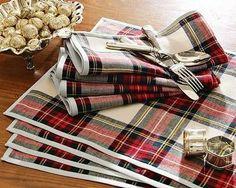 tartain table linens