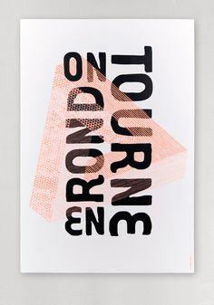 On tourne en rond - impression en tons directs - Les Graphiquants (France) Illustration Inspiration, Illustration Design Graphique, Typography Inspiration, Graphic Design Inspiration, Layout Inspiration, Graphic Design Studios, Graphic Design Posters, Graphic Design Typography, Branding Design