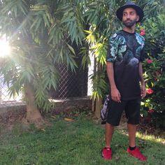"""Keep it trendy in Trinidad! ... Maybe leather shorts weren't the best idea. Lol  Chasingtrendz.com Men and women's fashion & lifestyle trendz blog.…"""