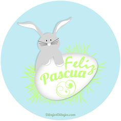 Conejo y huevo de Pascua.