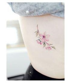 "Tattooist Banul (@tattooist_banul) on Instagram: "": Cherry Blossom . . #tattooistbanul #tattoo #tattooing #flower #flowertattoo #colortattoo…"""