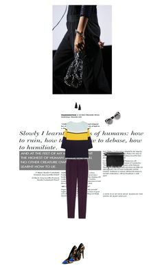 """fashionista"" by olesyabond ❤ liked on Polyvore featuring Alexander Wang, Vionnet, Matthew Williamson, Giuseppe Zanotti, 3.1 Phillip Lim, H&M, Quay, stripes, Clutch and leopard"