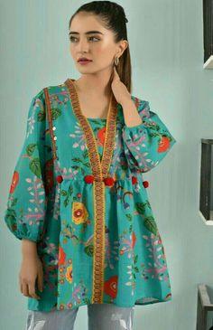 Stylish Dresses For Girls, Frocks For Girls, Dresses Kids Girl, Casual Dresses, Kurta Designs Women, Kurti Neck Designs, Dress Neck Designs, Frock Fashion, Batik Fashion
