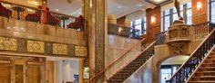 Art Deco elegance from the Art Deco Hotel, Art Deco Design, Restoration, Original Art, Stairs, Contemporary, Elegant, Places, Home Decor