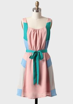 Another Sky // colour-blocked dress