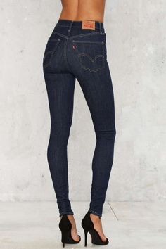 Levi's Mile High Super Skinny Jean - Dark Blue - Clothes | Skinny