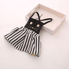 2014 children clothing baby girl's dress fashion lovely dress cat free shipping $13.20