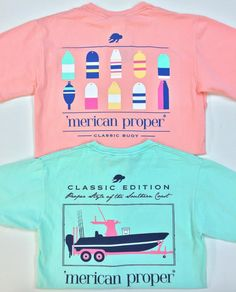 Just a few of the 'Merican Proper tees that your man will love! Come shop these + MORE today in both stores! #mericanproper #guytees #fishing #boat #shopPD