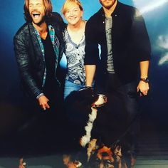 Oh nothing... Just hanging in Pittsburgh with my dawgs... @creationent @jensenackles #spnpitt (Source: Jared Padalecki instagram)