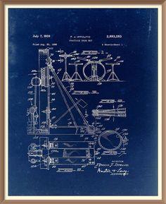 Vintage trumpet patent print 1939 set on a vintage blue paper vintage drum kit patent print 1959 set on a vintage blue paper background instant download vintage blueprint downloadable art by rarevintagepatents on malvernweather Images