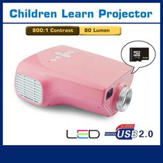 Portable Projector For Baby early Education 80 Lumens, Pink [SKU#EP03] - $70.00 : Rakeinme.com
