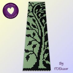 Loom / Peyote pattern for bracelet: Green Two Tone Tree  - PDF - buy 2 get 1 free mix and match offer - bp22. $6.50, via Etsy.