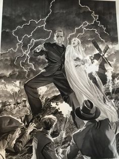 Alex Ross: #Frankensteinathon #universal monsters lithograph set. Coming soon