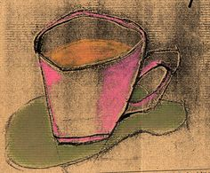 pastel coffee cup
