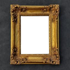 Gold Ornate Vintage Mirror - Acanthus Leaf Rose Rectangular Frame - Victorian - Hollywood Regency - Baroque by TheCherryAttic on Etsy