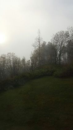 It is foggy today.