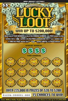 Lucky Loot: More Than $19 Million in Prizes  Approximately 6.0 million LUCKY LOOT tickets are initially planned in this game. Click on the image to learn more!