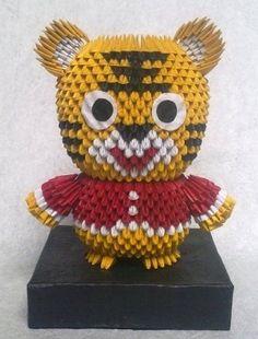3D Origami - Little Tiger