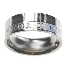 "Christian Mens Stainless Steel Abstinence 8mm ""Armor of God"" Ephesians 6:11 Chastity Ring for Boys - Purity Rings for Guys:Amazon:Jewelry"