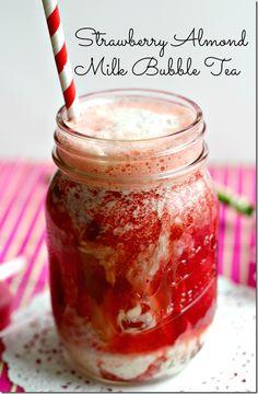 Strawberry Almond Milk Bubble Tea