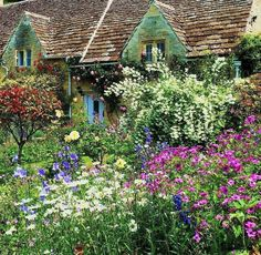 English Cottage Garden in Bibury, Gloucestershire
