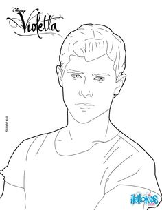 Discover This Beautiful Coloring Page Of The Disney Series Violetta Here A Portrait Diego