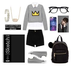 """Ya gots hacked man"" by yinyang-bestfriend-goals ❤ liked on Polyvore featuring Alice + Olivia, River Island, Madden Girl, Converse, Casetify and Kendra Scott"