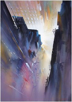 Night in the City by Thomas W. Schaller was awarded Outstanding Watercolor in the November 2013 BoldBrush Painting Competition...