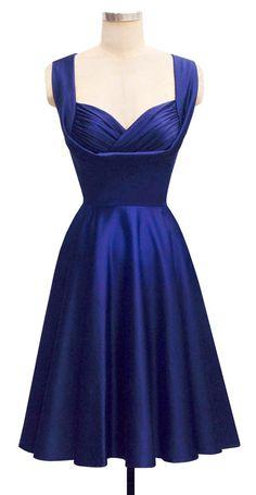trashy diva honey dress cobalt satin bridal collection