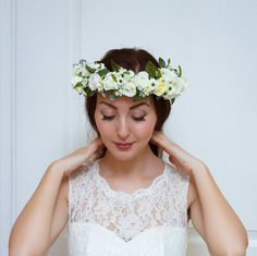 Bridal floral crown Flower headband Bridal headband by ByKochetova