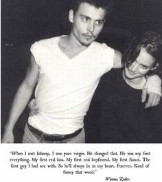 When Winona said this about Johnny: | 21 Reasons Johnny Depp And Winona Ryder Should Get BackTogether