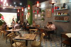 Heritage Village ~ The Flavours of Penang Nyonya Shopping Centre Section 14 Petaling Jaya Retro Interior Design, Restaurant Interior Design, Cafe Interior, Chinese Restaurant, Cafe Restaurant, Pho, Stall Decorations, Coffee Restaurants, Cafe Concept