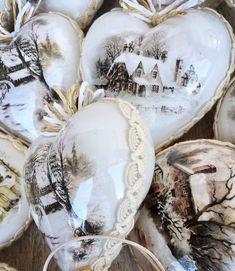 Dekorácie - Vianočné ozdoby krajinka - 8710202_
