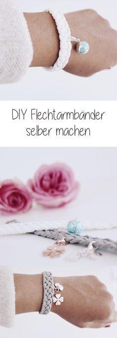 DIY Schmuck Flechtarmbänder selber machen